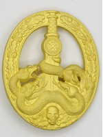Anti-Partisan Guerrilla Warfare Badge ( Bandenkampfabzeichen) in Gold