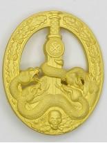 Anti-Partisan Guerrilla Warfare Badge ( Bandenkampfabzeichen) in Gold