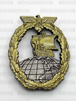 Replica of Auxiliary Cruiser Badge (Kriegsabzeichen für Hilfskreuzer) (WWII German Badges) for Sale (by ww2onlineshop.com)