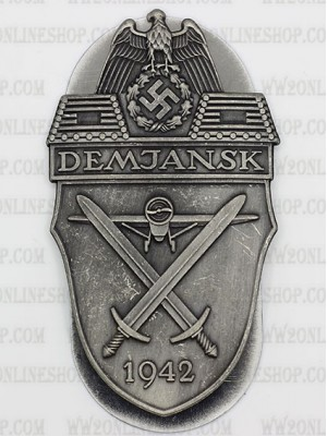 Replica of Demyansk Shield (German: Ärmelschild Demjansk) (WWII German Badges) for Sale (by ww2onlineshop.com)