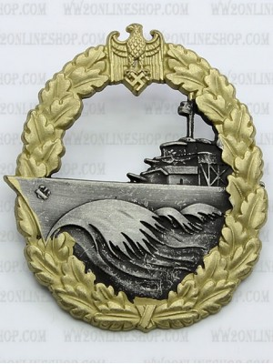 Replica of Destroyer War Badge (Zerstörerkriegsabzeichen) (WWII German Badges) for Sale (by ww2onlineshop.com)