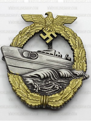 Replica of E-boat Badge Late Version (Torpedo Boat War Badge) (WWII German Badges) for Sale (by ww2onlineshop.com)