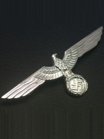 Heer Breast Eagle in Silver