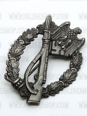 Replica of Infantry Assault Badge (Antique Finish) in Silver (WWII German Badges) for Sale (by ww2onlineshop.com)