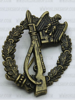 Replica of Infantry Assault Badge  in Bronze (German: Infanterie-Sturmabzeichen) (WWII German Badges) for Sale (by ww2onlineshop.com)