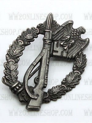 Replica of Infantry Assault Badge in Silver (Antique Finish) (WWII German Badges) for Sale (by ww2onlineshop.com)