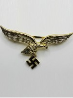 Luftwaffe  Breast Eagle in Gold