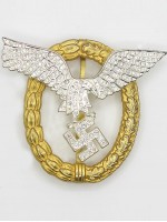 Pilot/Observer Badge in Gold with Diamonds