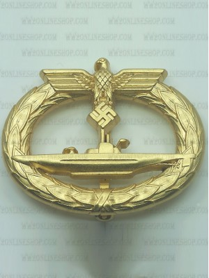 Replica of U-boat War Badge (U-Boots-Kriegsabzeichen) (WWII German Badges) for Sale (by ww2onlineshop.com)