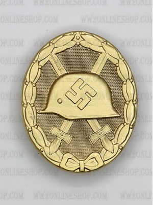 Replica of Wound Badge (German: Verwundetenabzeichen) in Gold (WWII German Badges) for Sale (by ww2onlineshop.com)