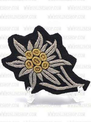 Replica of Gebirgsjager Officer's M43 Cap Edelweiss (Cap Badges) for Sale (by ww2onlineshop.com)