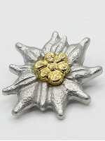 Gebirgsjager Officer's Metal Cap Edelweiss