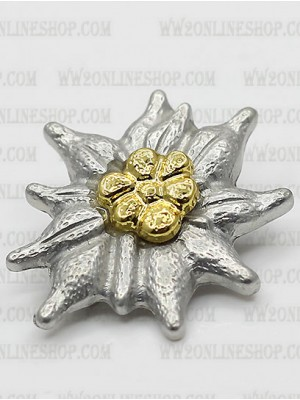 Replica of Gebirgsjager Officer's Metal Cap Edelweiss (Cap Badges) for Sale (by ww2onlineshop.com)