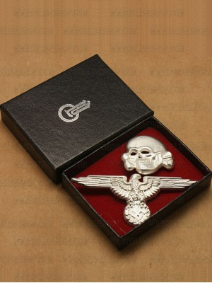 Replica of SS Cap Skull & Eagle (Cap Badges) for Sale (by ww2onlineshop.com)