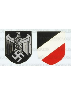 Replica of WW2 German Army Helmet Decals (Helmets) for Sale (by ww2onlineshop.com)
