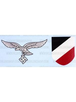 Replica of WW2 German Luftwaffe Helmet Decals (Helmets) for Sale (by ww2onlineshop.com)