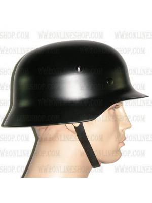 Replica of WW2 German M35 Steel Helmet in Black (Helmets) for Sale (by ww2onlineshop.com)