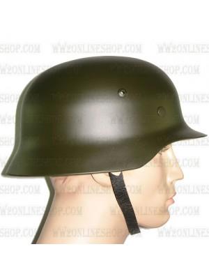 Replica of WW2 German M35 Steel Helmet in Dark Green (Helmets) for Sale (by ww2onlineshop.com)