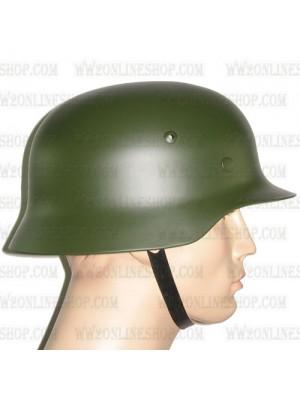 Replica of WW2 German M35 Steel Helmet in Field Green (Helmets) for Sale (by ww2onlineshop.com)