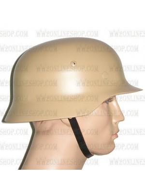 Replica of WW2 German M35 Steel Helmet in Sand Yellow (Helmets) for Sale (by ww2onlineshop.com)