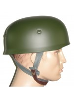WW2 German Paratrooper M38 Steel Helmet in Field Green