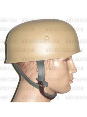 Replica of WW2 German Paratrooper M38 Steel Helmet in Sand Yellow (Helmets) for Sale (by ww2onlineshop.com)