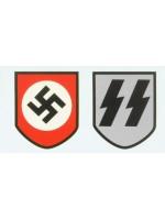 WW2 German Waffen S.S. Helmet Decals