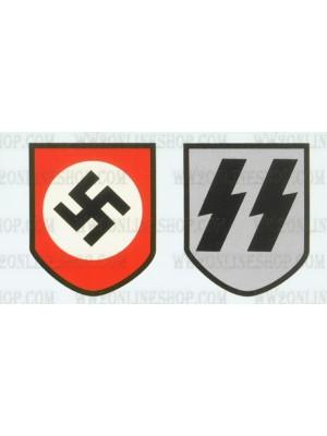 Replica of WW2 German Waffen S.S. Helmet Decals (Helmets) for Sale (by ww2onlineshop.com)