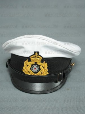 Replica of First World War German Navy Officer s Visor Cap (Caps) for Sale (by ww2onlineshop.com)