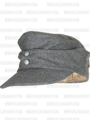 Replica of German Army EM M43 Grey Wool Field Cap (Caps) for Sale (by ww2onlineshop.com)