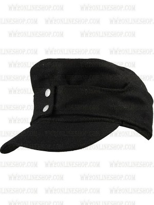 Replica of German Army EM Panzer M43 Black Wool Field Cap (Caps) for Sale (by ww2onlineshop.com)