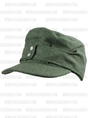 Replica of German Wehrmacht/SS M43 Green wool Field Cap(Einheitsmütze) (Caps) for Sale (by ww2onlineshop.com)
