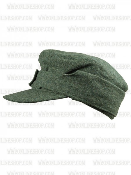 cd27a1a60f3093 Replica of German Wehrmacht/SS M43 Green wool Field Cap(Einheitsmütze) (Caps