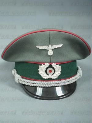 Replica of German WWII Heer Artillery Officer Visor Cap (Caps) for Sale (by ww2onlineshop.com)