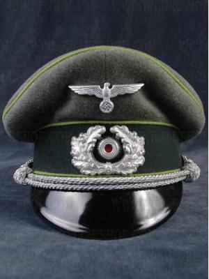 Replica of Heer Panzer Grenadier Officer Peak Visor Cap (Caps) for Sale (by ww2onlineshop.com)