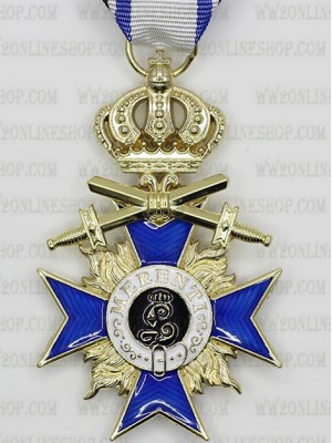 Replica of Bavarian Military Merit Cross 3rd Class with Crown and Swords (WWI Medals & Awards) for Sale (by ww2onlineshop.com)