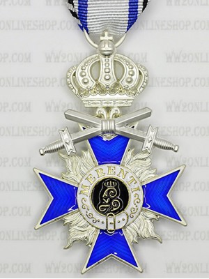 Replica of Bavarian Military Merit Cross 4th Class with Swords (WWI Medals & Awards) for Sale (by ww2onlineshop.com)