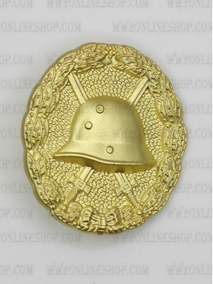 Replica of First War 1918 Wound Badge in Gold (Verwundetenabzeichen) (WWI Medals & Awards) for Sale (by ww2onlineshop.com)