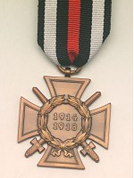 The Honour Cross of the World War 1914/1918 (Das Ehrenkreuz des Weltkriegs 1914/1918)