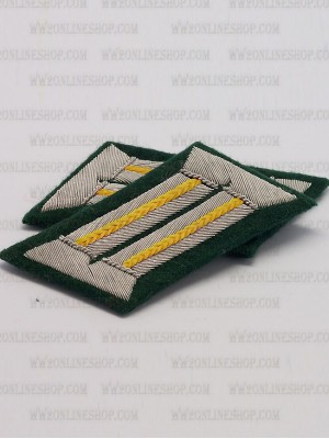 Replica of Cavalry Officer Waffenrock Collar Tabs (German Collar Tabs) for Sale (by ww2onlineshop.com)