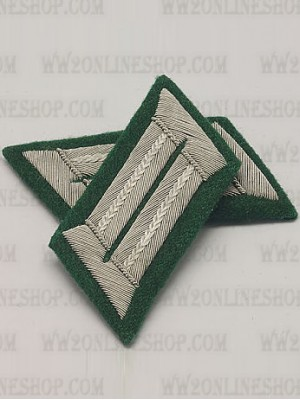 Replica of Heer Officer Collar Tabs(Infantry) (German Collar Tabs) for Sale (by ww2onlineshop.com)