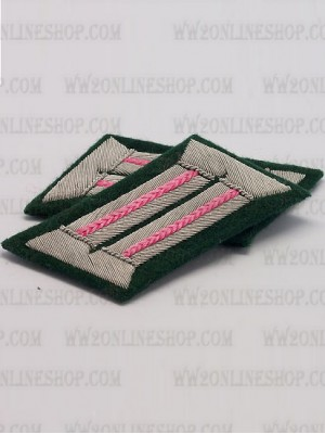 Replica of Heer Officer Collar Tabs(Panzer) (German Collar Tabs) for Sale (by ww2onlineshop.com)