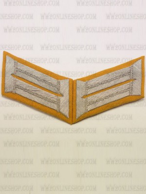 Replica of Heer Officer Waffenrock Collar Tabs(Cavalry) (German Collar Tabs) for Sale (by ww2onlineshop.com)