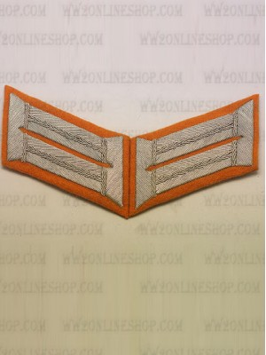 Replica of Heer Officer Waffenrock Collar Tabs(Gendarmerie) (German Collar Tabs) for Sale (by ww2onlineshop.com)