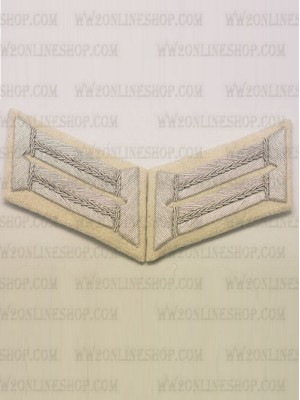 Replica of Heer Officer Waffenrock Collar Tabs(Infantry) (German Collar Tabs) for Sale (by ww2onlineshop.com)