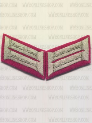 Replica of Heer Officer Waffenrock Collar Tabs(Panzer) (German Collar Tabs) for Sale (by ww2onlineshop.com)
