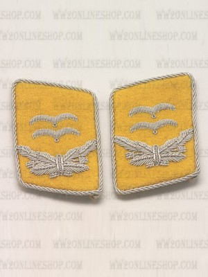 Replica of Luftwaffe 1st Lt Collar Tabs (German Collar Tabs) for Sale (by ww2onlineshop.com)