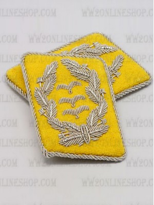 Replica of Luftwaffe Col. Collar Tabs (German Collar Tabs) for Sale (by ww2onlineshop.com)
