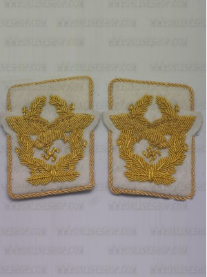 Replica of Luftwaffe Generaloberst Collar Tabs (German Collar Tabs) for Sale (by ww2onlineshop.com)