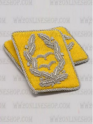 Replica of Luftwaffe Lt Col. Collar Tabs (German Collar Tabs) for Sale (by ww2onlineshop.com)